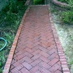 Pressure Washed Brick Walkway